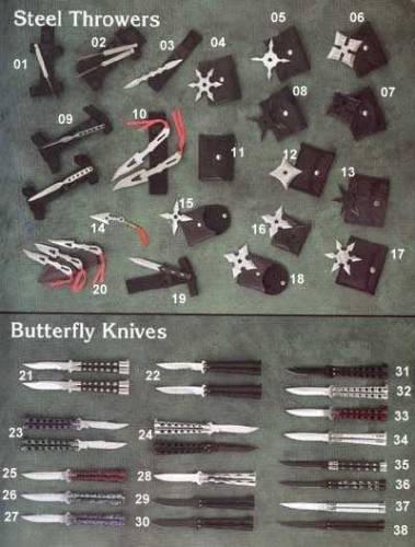 Оружие ниндзя набор сюрикенов